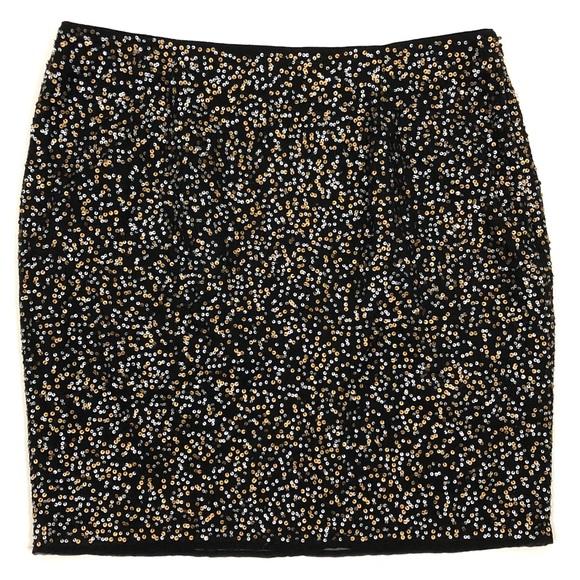 Halogen Dresses & Skirts - Halogen black and metallic sequin mini skirt